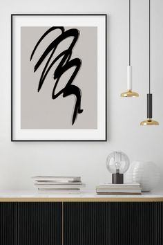 Strokes 2 | Minimalistic Abstract Artwork by Menega Sabidussi. Expressive black ink brush stroke lines on a subtly textured background. Black, white and neutral aesthetic for modern interior styles. #artprints #wallart #scandi #scandinavian #nordic Art Prints, Ink Brush, Wall Art, Textured Background, Abstract Artwork, Art, Pictures, Abstract, Abstract Print