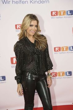 Sylvie van der Vaart Leather Leggings | Back to post Sylvie van der Vaart – RTL Spendenmarathon in Koln