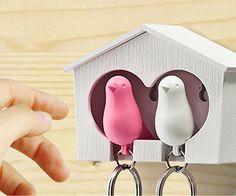 Sparrow Keychain Birdhouse - http://geekstumbles.com/sparrow-keychain-birdhouse/