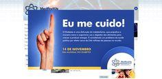 Banner digital em site para campanha interna da MedRadiUs