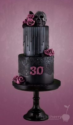 Inspiration Picture of Gothic Birthday Cakes . Gothic Birthday Cakes Black C. Inspiration Picture of Gothic Birthday Cakes . Gothic Birthday Cakes, 2 Tier Birthday Cakes, Birthday Cake Pictures, Birthday Cake Smash, 30th Birthday Themes, My Birthday, Birthday Cake Designs, Bolo Halloween, Halloween Cakes