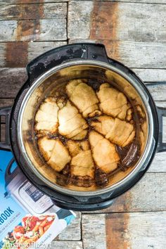 easy instant pot apple dumplings with canned crescent roll dough