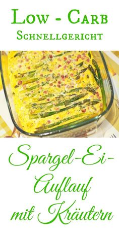 Ein schnelles Low - Carb Gericht ist immer gut. Leckerer grüner Spargel trifft auf einen Parmesan - Ei - Schinken Masse. Ab in den Backofen und nach 15 Minuten gibt es ein leckeres und schmackhaftes Essen. Mit oder ohne Thermomix schnelle gezaubert.