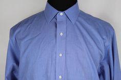 BROOKS BROTHERS Mens Non-Iron Blue French Cuff Dress Shirt Sz 16.5-36 #BrooksBrothers