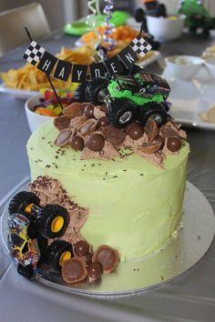 Monster truck cake for Hayden's birthday