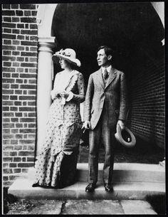 Virginia and Leonard Woolf on their wedding day, August, 1912.