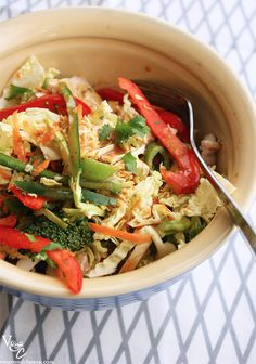 chinese chicken salad (healthy style) via @victoria / vmac+cheese