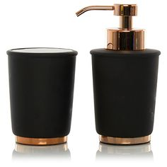 George Home Black & Copper Bathroom Accessories