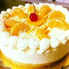 soft and sweet creamy ( suave,cremosa torta de mousse de mandarina )