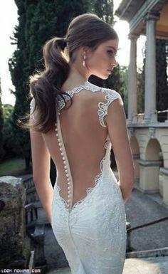 Espalda con transparencias para una novia sensual y atractiva. #Blog #Innovias