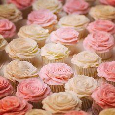 Roses vanilla wedding cupcakes #sweetsbyerin