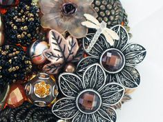 Hand Mirror  Recycled Fall Floral  EcoFriendly by MarilyndaGallery, $50.00