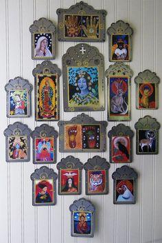 Discount for Multiple Items/Laser Cut Steel by christinamiller Catholic Art, Religious Art, Christina Miller, Virgin Mary Art, Divine Mother, Angel Art, Mexican Folk Art, Sacred Art, Original Art