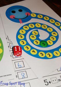 Addition Snake - Printable Game for Addition