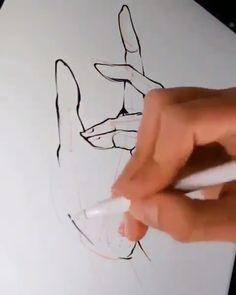 IG: alicjanai figuren zeichnen bleistift How to draw hand ✋✏️ Pencil Art Drawings, Art Drawings Sketches, Easy Drawings, Drawing Techniques, Drawing Tips, Drawing Ideas, Art Du Croquis, Poses References, Art Tips