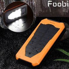 2016 New solar power bank with camping lamp 15000mah double interface external charger mobile power bank for all phones //Price: $US $13.26 & FREE Shipping //     #apple