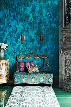 Marbled Wallpaper, Pattern Inspiration - Blue Room Ideas & Inspiration (houseandgarden.co.uk)