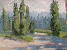 """Overlooking florence.oil on paper.8""""x10""""."""