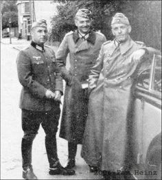Friedrich Wilhelm Heinz (left), an officer of the Brandenburg Regiment, was opposed to the Nazis and was a major figure in the German resistance movement that eventually resulted in the July 20, 1944 assassination attempt on Hitler. He is seen here with Generalmajor Hans Oster (right), deputy head of the Abwehr and one of the main conspirators in the July 20 plot. In the subsequent Gestapo investigation of the conspiracy, an arrest warrent was issued  for Heinz, but he managed to evade…