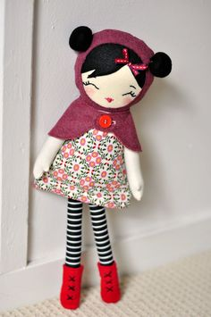 Beautiful doll, (for sale no pattern) great for inspiration.