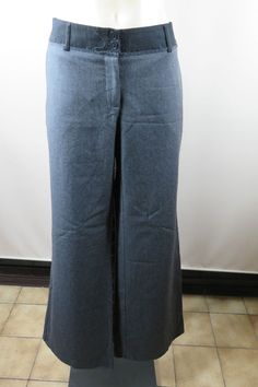 Size 12 M Country Road Ladies Grey Dress Pants Chic Business Office Wool Design