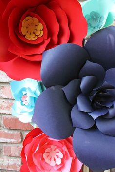Bright and Colorful Paper Flower Decor
