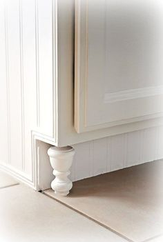 """DIY Cabinet Feet Make Your Own """"Frugal"""" Kitchen Cabinet Feet - At The Picket Fence"""