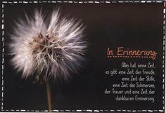 Trauerkarte - Beileidskarte; In Erinnerung
