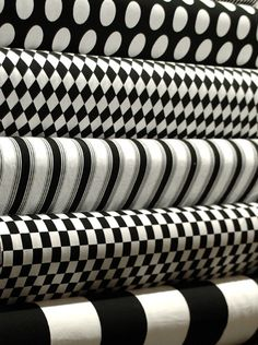 Black and white fabric prints
