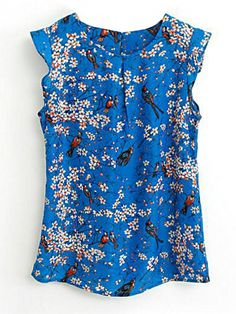 8398a58e1ce Buy Round Neck Floral Printed Sleeveless T-Shirt online with cheap prices  and discover fashion
