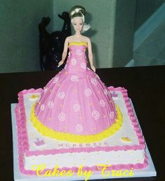 Simple barbie cake