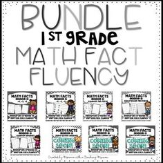 First Grade Math fact fluency BUNDLE Addition & Subtraction factsI created these packs to help my students increase their number sense and fact fluency. This bundle pack will include 8 sets, when it is complete. Also PLEASE NOTE, as sets are added, the price will increase with this BUNDLE.