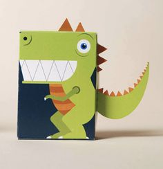 Awesome Crayon Product Packaging #dinosaur #box #kids