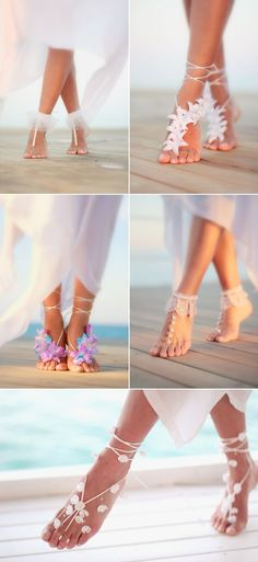 13 Absolutely Gorgeous Shoes For Beach Weddings! | Visit http://gwyl.io/ for more diy/kids/pets videos