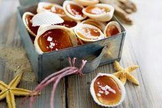 Karamell-Schleckmuscheln. Ich MUSS im Urlaub Muscheln suchen und finden, das ist so genial #kindheitserinnerungen