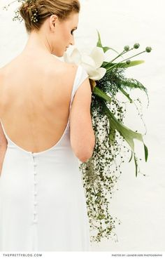 Open back wedding dress designed by Robyn Roberts.
