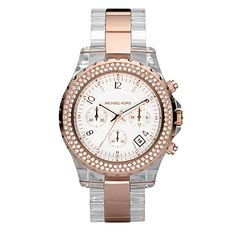 99cfab212ac0 Rose gold  amp  acrylic chronograph by Michael Kors. Help me to be on time