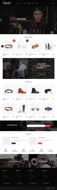 A minimal WooCommerce WordPress theme which is built on Bootstrap and Visual Composer. It supports Instagram and many other socials.