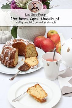 mandeln Apple Gugelhupf recipe - juicy and fruity Delicious Cookie Recipes, Yummy Cookies, Cake Recipes, Cookie Cutter House, Short Bread, Ring Cake, Ground Almonds, Food Lists, Coconut Flour