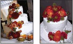 simple fall wedding cake designs