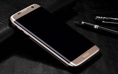 Gold Metal Protective Samsung S7 Edge Sleeve Cases For Men And Women SG709_14