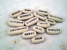 $45 Set of 15 Clay Words, Meditation, Mantra, Positive Affirmation, Empowerment Words