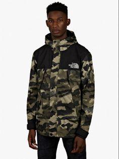 The North Face Olive Camo Metro Mountain Parka The North Face, Camo Fashion, Jungle Print, North Face Fleece, Padded Jacket, Sweater Jacket, Men's Jacket, Modern Man, North Face Jacket