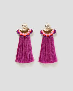 ZARA - WOMAN - EARRINGS WITH LONG FRINGE
