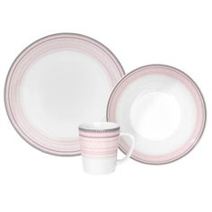 Barnesett (rosa) Krus, dyp og flat tallerken - MARIUS – Hyttefeber Plates, Children, Tableware, Pink, Products, Licence Plates, Young Children, Dishes, Boys