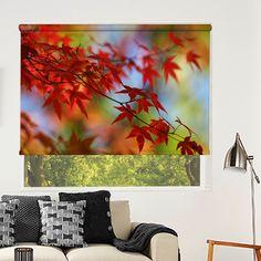 Σκίαση Ρόλερ Μερικής Συσκότισης NA0002 Φύση-Κόκκινα φύλλα