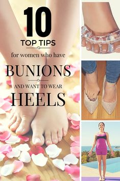 10 top tips for women with bunions who want to wear heels. Sometimes an occasion comes along when only heels will do. When you have bunions this situation has its own set of unique problems. Find out how to alleviate the pain of wearing heels. http://www.callashoes.co.uk/blog/bunions-and-feet/10-top-tips-women-who-have-bunions-and-want-wear-heels
