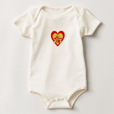 Spain/Spanish Flag-Inspired Hearts Baby Bodysuit - baby gifts child new born gift idea diy cyo special unique design