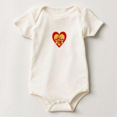 Spain/Spanish Flag-Inspired Hearts Baby Bodysuit - newborn baby gift idea diy cyo personalize family