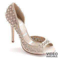 ELLE™ Peep-Toe High Heels - Women